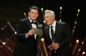 LONDON, ENGLAND - JANUARY 20:  Tony Hadley and Martin Kemp present at the 21st National Television Awards at The O2 Arena on January 20, 2016 in London, England.  (Photo by Tristan Fewings/Getty Images) *** Local Caption *** Tony Hadley; Martin Kemp