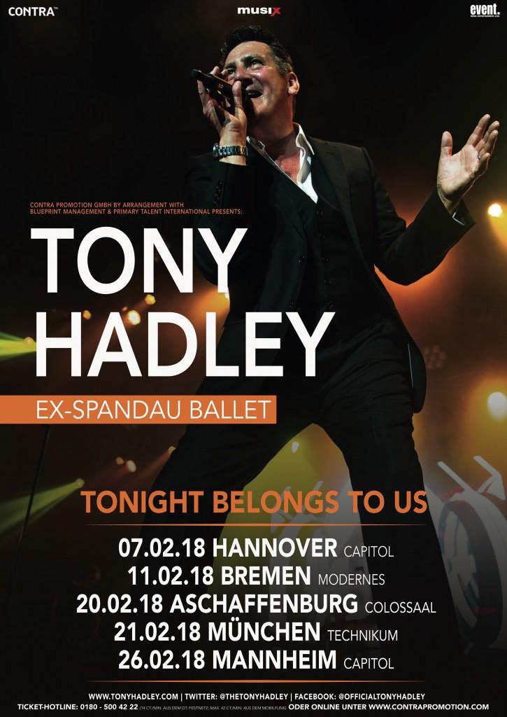 Tony hadley germany 5 live dates tony hadley tony hadleya1contra klein malvernweather Choice Image